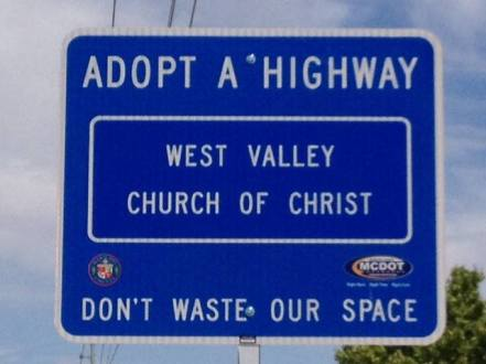 west valley adopt a high way sign